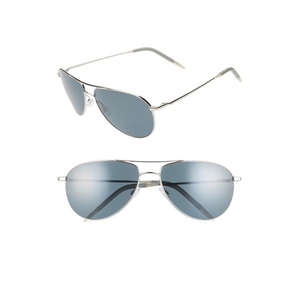 オリバーピープルズ メンズ サングラス・アイウェア アクセサリー Oliver Peoples Benedict 59mm Aviator Sunglasses Silver/Blue