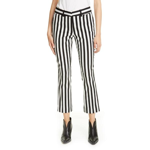 フレーム レディース カジュアルパンツ ボトムス FRAME Perfect Stripe Crop Trousers Noir Stripe