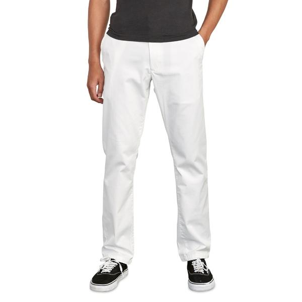 ルーカ メンズ カジュアルパンツ ボトムス RVCA Week End Solid Straight Leg Pants White