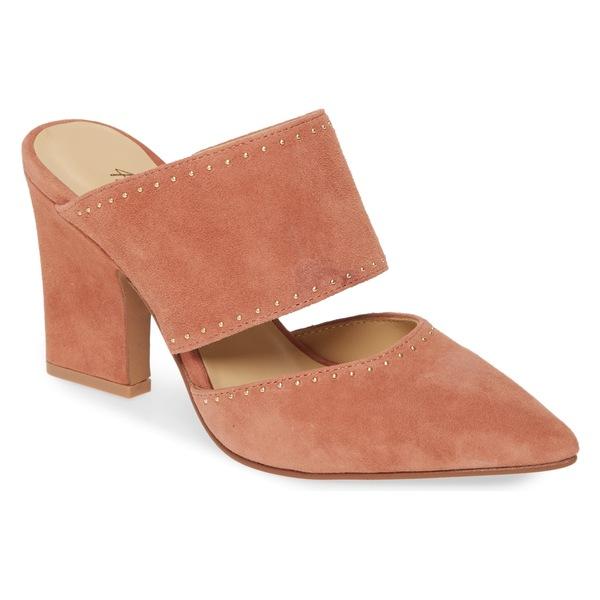 42ゴールド レディース サンダル シューズ 42 GOLD Figaro Studded Pointed Toe Mule (Women) Mauve Clay Suede