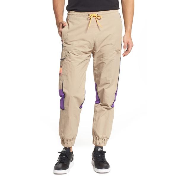 アディダスオリジナルス メンズ カジュアルパンツ ボトムス adidas Originals Adiplore Pack Nylon Track Pants Trace Khaki