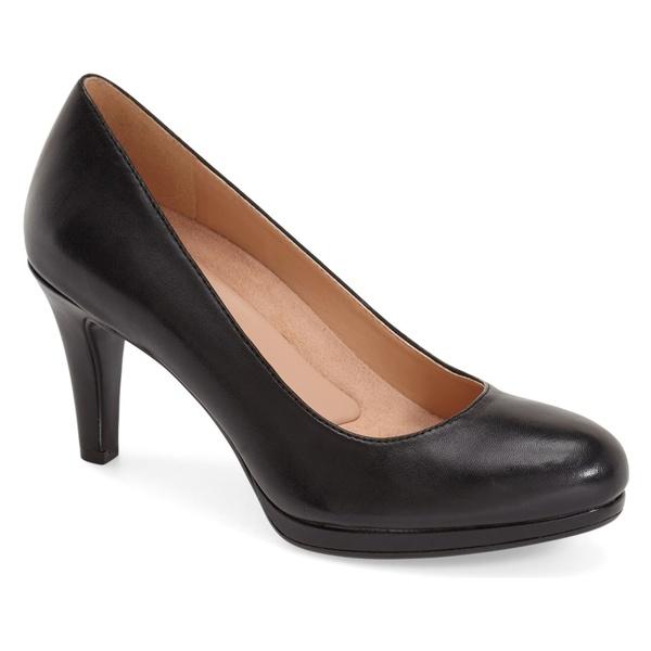 ナチュライザー レディース パンプス シューズ Naturalizer 'Michelle' Almond Toe Pump (Women) Black Leather