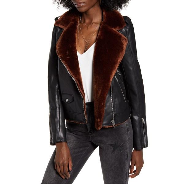 ブランクニューヨーク レディース ジャケット&ブルゾン アウター BLANKNYC Faux Fur & Faux Leather Moto Jacket Dreamers