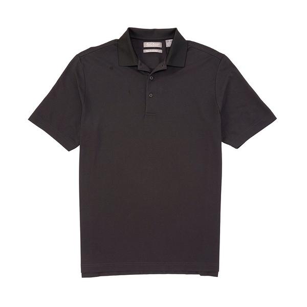クレミュ メンズ ポロシャツ トップス Daniel Cremieux Signature Performance Pique Short-Sleeve Polo Shirt Black