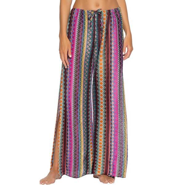 ベッカバイレベッカバーチュー レディース カジュアルパンツ ボトムス Becca By Rebecca Virtue Rio Bueno Crochet Stripe Cover Up Pant Multi