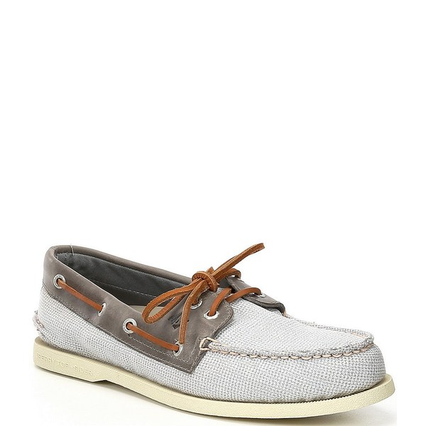 スペリー メンズ スニーカー シューズ Men's Authentic Original 2-Eye Gingham Boat Shoes Grey/Grey