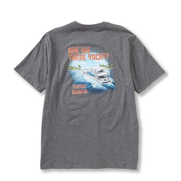 トッミーバハマ メンズ Tシャツ トップス Are We There Yacht Short-Sleeve Tee Charcoal Heather
