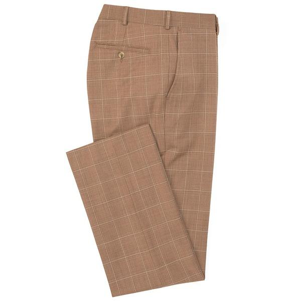 ランドツリーアンドヨーク メンズ カジュアルパンツ ボトムス TravelSmart Ultimate Comfort Flat-Front Washable Wool Blend Dress Pants Tan