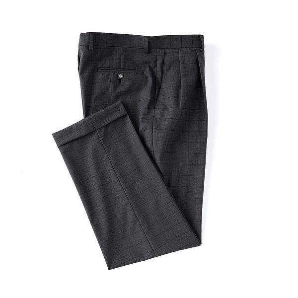 ラルフローレン メンズ カジュアルパンツ ボトムス Pleated Relaxed Fit Pattern Dress Pants Charcoal