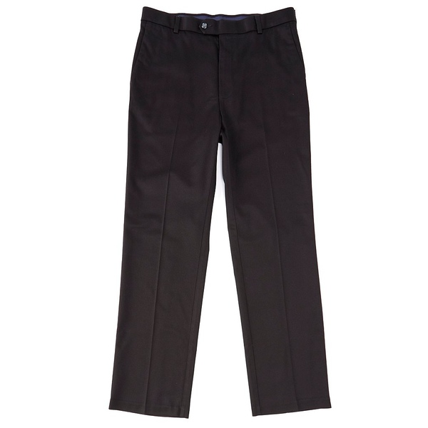 ランドツリーアンドヨーク メンズ カジュアルパンツ ボトムス TravelSmart CoreComfort Big & Tall Flat-Front Classic Relaxed Fit Chino Pants Black