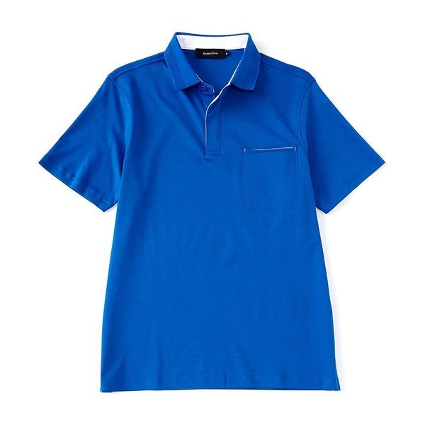 ブガッチ メンズ ポロシャツ トップス Solid Chest Pocket Short-Sleeve Polo Shirt Sapphire