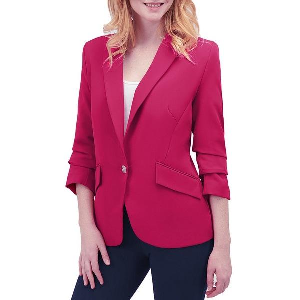 ピーターニガード レディース ジャケット&ブルゾン アウター Ruched Sleeve Stretch Twill Blazer Pink Punch