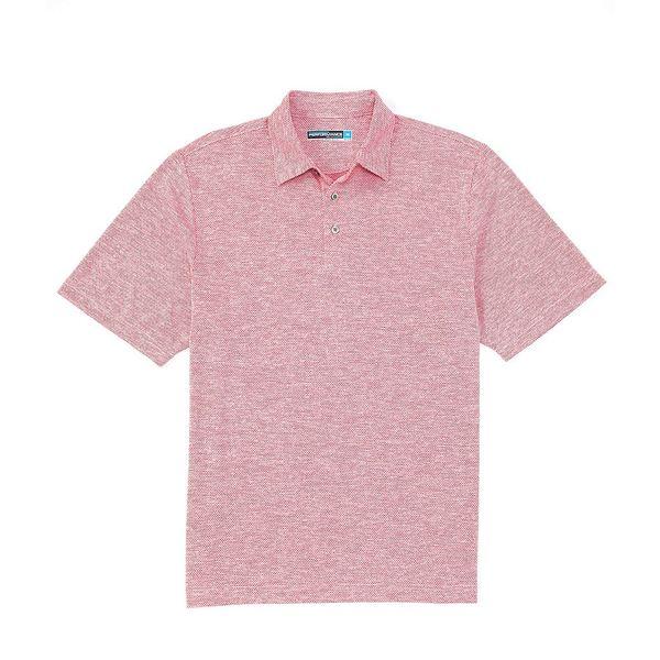 ランドツリーアンドヨーク メンズ ポロシャツ トップス Performance Short-Sleeve Spacedye Jacquard Polo Vivacious Pink
