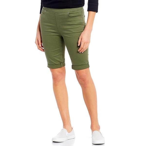 ウェストボンド レディース カジュアルパンツ ボトムス the HIGH RISE fit Bermuda Shorts Deep Lichen Green