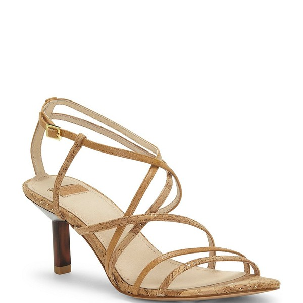 ルイスエシー レディース サンダル シューズ Hansel Cork and Leather Strappy Dress Sandals Natural/Gold/True Tan