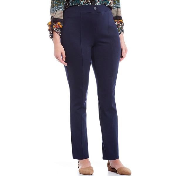 イントロ レディース カジュアルパンツ ボトムス Plus Size Bella Solid Double Knit Slim Her Straight Leg Pants Industrial