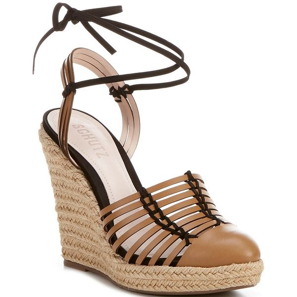 シュッツ レディース サンダル シューズ Randi Huarache Leather Espadrille Wedge Sandals Hazel
