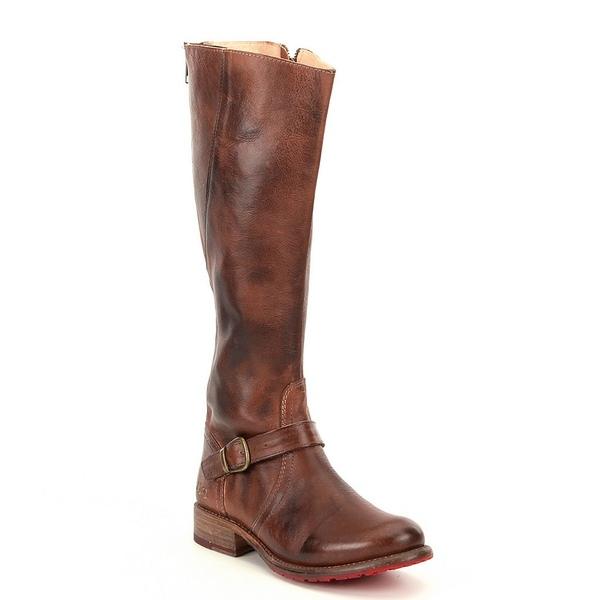 ベッドステュ レディース ブーツ&レインブーツ シューズ Glaye Buckle Detail Strap Equestrian Leather Block Heel Riding Boots Tan Rustic