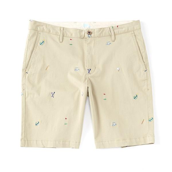 トッミーバハマ メンズ ハーフ&ショーツ ボトムス Hit The Links 10#double; Inseam Flat-Front Shorts Stone Khaki