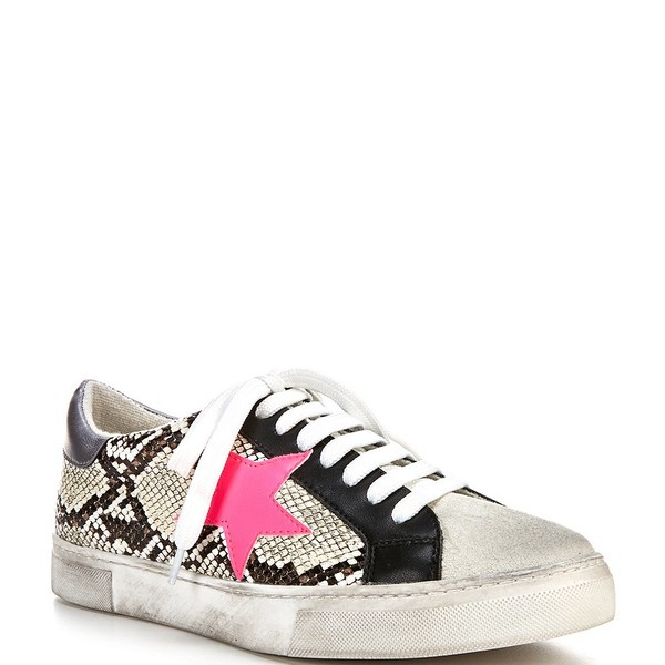 スティーブ マデン レディース スニーカー シューズ Steven by Steve Madden Rubie Star Snake Print Sneakers Natural/Multi