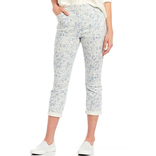 ウェストボンド レディース カジュアルパンツ ボトムス Petite Size the HIGH RISE fit Crop Pant Blue Floral