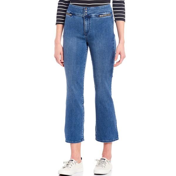 エヌワイディージェイ レディース デニムパンツ ボトムス Marilyn Wide Waistband Ankle Jeans Clean Brickell