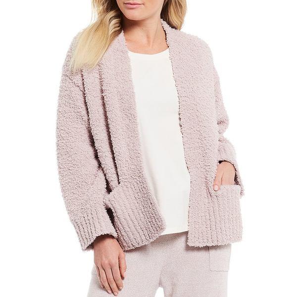 トッミーバハマ レディース ニット&セーター アウター Island Soft Long Sleeve Open Front Cardigan Putty