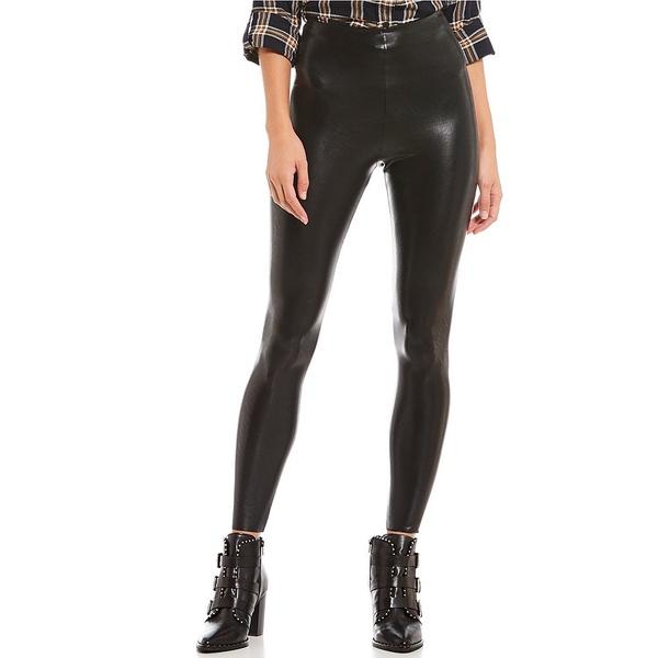 コマンドー レディース レギンス ボトムス Faux Leather Leggings Black