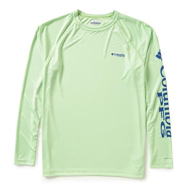 コロンビア メンズ Tシャツ トップス PFG Terminal Tackle Long-Sleeve Rashguard Tee Key West/Vivid Blue