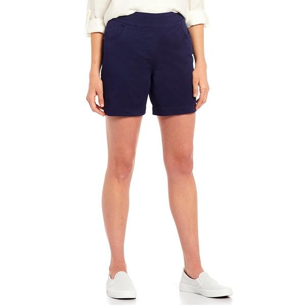 ウェストボンド レディース カジュアルパンツ ボトムス Petite Size the PARK AVE fit Pull-On Shorts Evening Blue