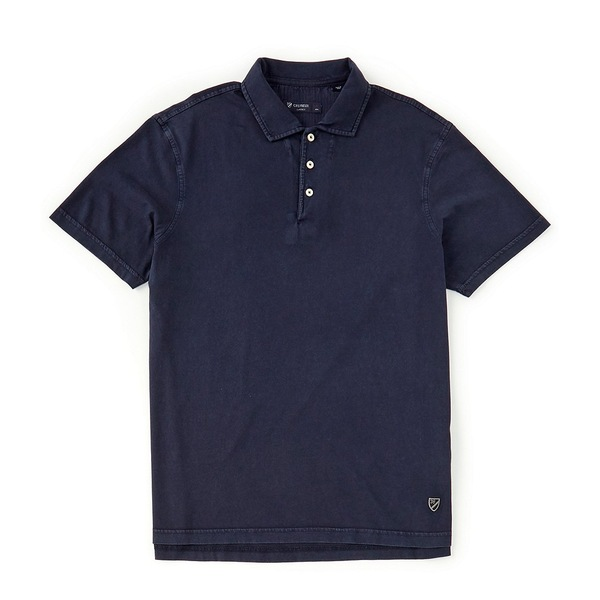 クレミュ メンズ ポロシャツ トップス Solid Garment Dyed Short-Sleeve Polo Shirt Navy Blazer