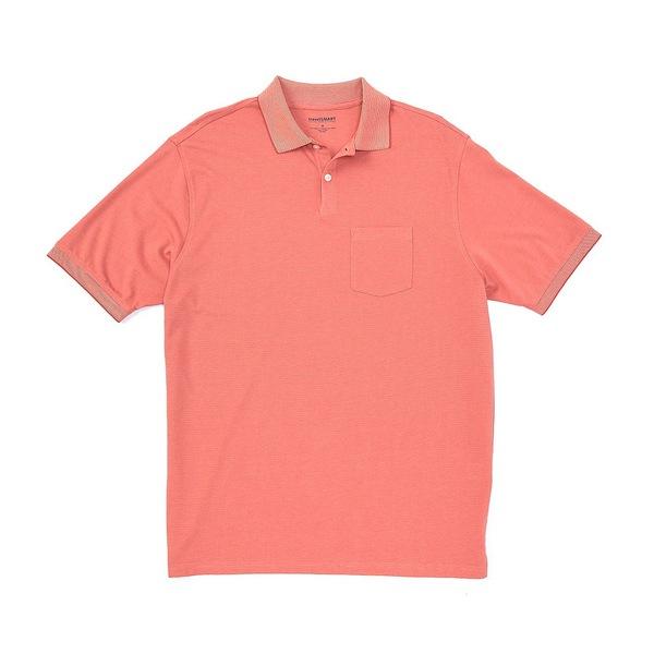 ランドツリーアンドヨーク メンズ ポロシャツ トップス TravelSmart Short-Sleeve Solid Polo Antique Cherry