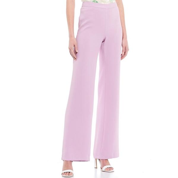 ジュリーブラウン レディース カジュアルパンツ ボトムス Ahoy Wide Leg Full Length Crepe Pant Lilac