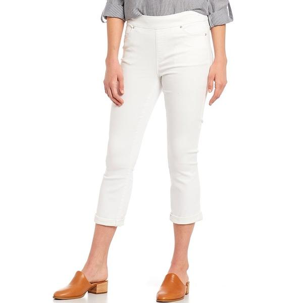 ウェストボンド レディース カジュアルパンツ ボトムス Petite Size the HIGH RISE fit Crop Pants White