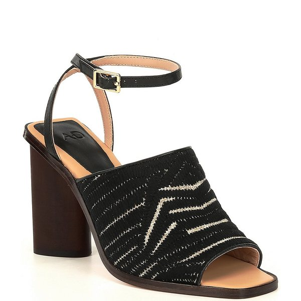 AD&ドーターズ レディース サンダル シューズ Haddix Square Toe Ankle Strap Dress Sandals Black/Natural