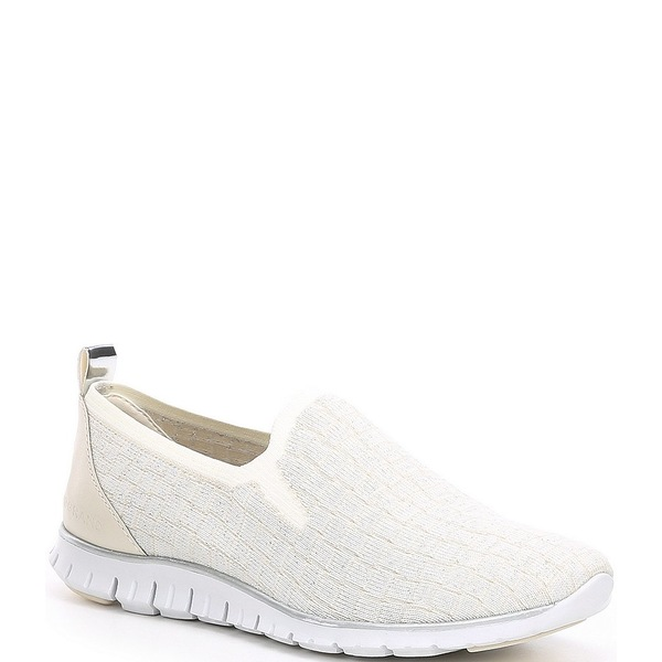 コールハーン レディース スニーカー シューズ Zerogrand Stitchlite Distance Knit Sneakers Ivory Metallic