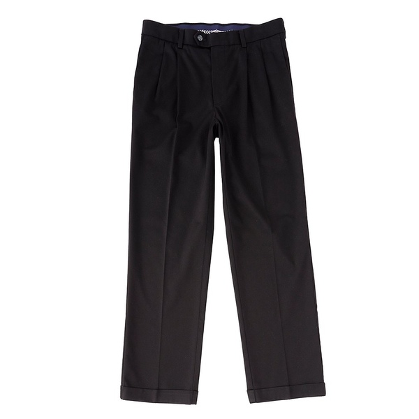 ランドツリーアンドヨーク メンズ カジュアルパンツ ボトムス TravelSmart CoreComfort Big & Tall Pleated Classic Relaxed Fit Chino Pants Black