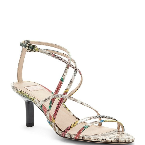 ルイスエシー レディース サンダル シューズ Hansel Snake Print Leather Strappy Dress Sandals Snake Multi