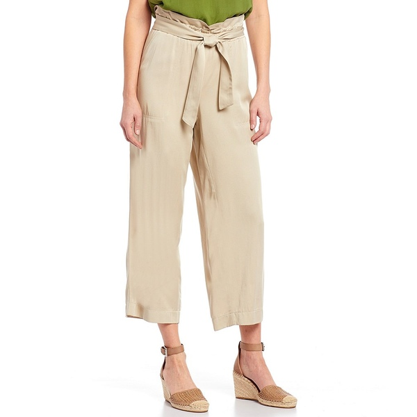 ジョーンズニューヨーク レディース カジュアルパンツ ボトムス Soft Twill Belted Paperbag Waist Crop Wide Leg Pants Tan