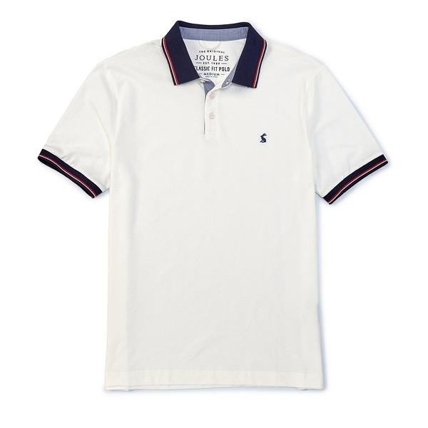 ジュールズ メンズ ポロシャツ トップス Classic Fit Short-Sleeve Hanfield Knit Rugby Shirt White