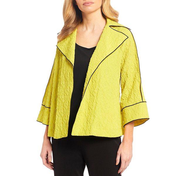 アイシーコレクション レディース ジャケット&ブルゾン アウター 3/4 Raglan Sleeve Contrast Trim Merrow Edge Jacket Lime