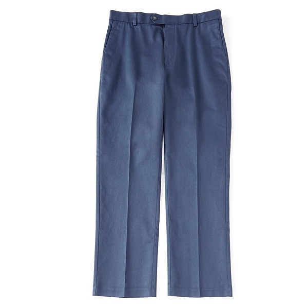 ランドツリーアンドヨーク メンズ カジュアルパンツ ボトムス Big & Tall Travel Smart Non-Iron Flat Front Classic Fit Seaonal Ultimate Comfort Pants Navy