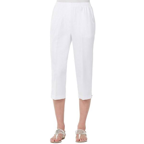 アリソンダーレイ レディース カジュアルパンツ ボトムス Petites Pull-On Capri Pants White