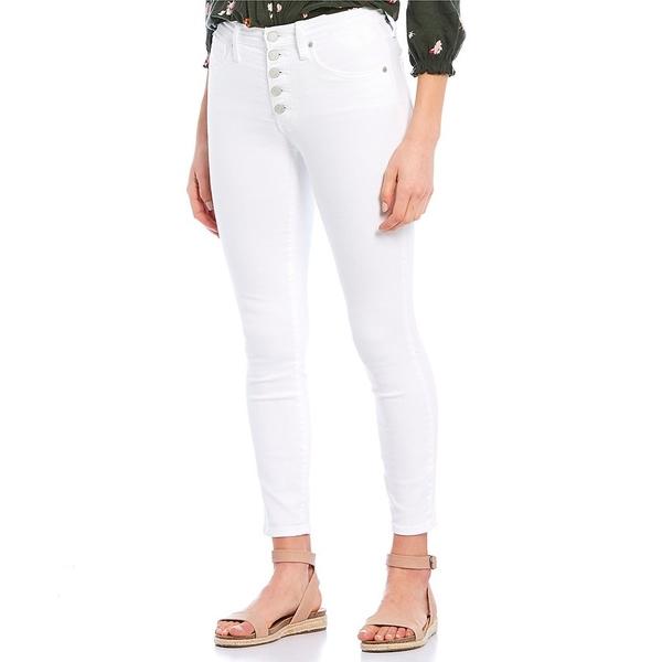 ラッキーブランド レディース デニムパンツ ボトムス Bridgette Exposed Button High Rise Skinny Ankle Jeans White