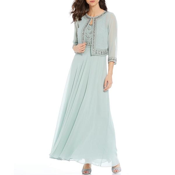 ジェイカラ レディース ワンピース トップス Beaded Bodice Dress with Jacket Celadon/Mercury