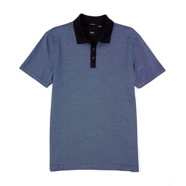 ヒューゴボス メンズ ポロシャツ トップス BOSS Piket Short-Sleeve Polo Shirt Navy