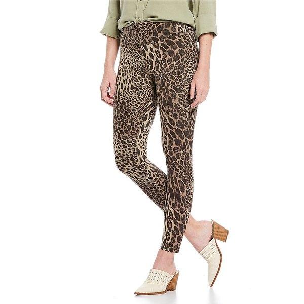 アンナ&アヴァ レディース レギンス ボトムス Leopard Denim Hi Rise Skimmer Leggings Brown