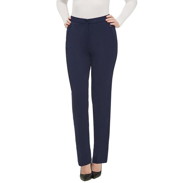 アリソンダーレイ レディース カジュアルパンツ ボトムス Petite Size Comfort Waist Straight Leg Pants True Navy