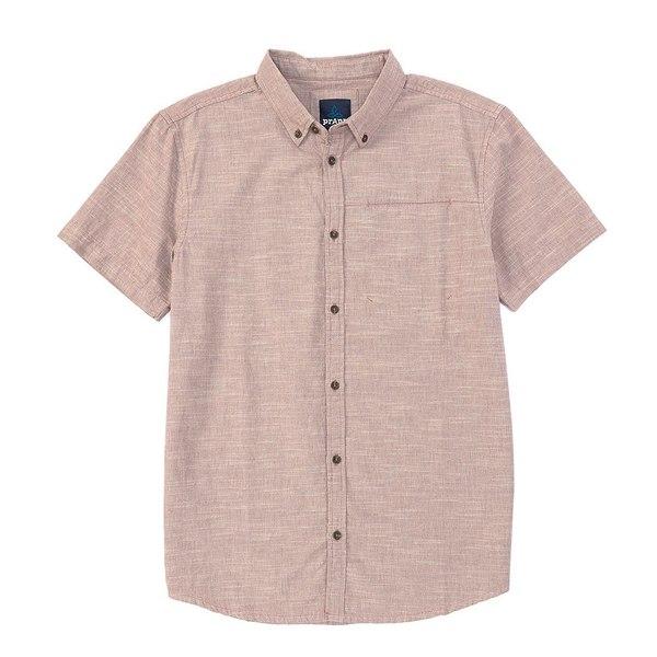 プラーナ メンズ シャツ トップス Prana Agua Short-Sleeve Woven Shirt Shadow