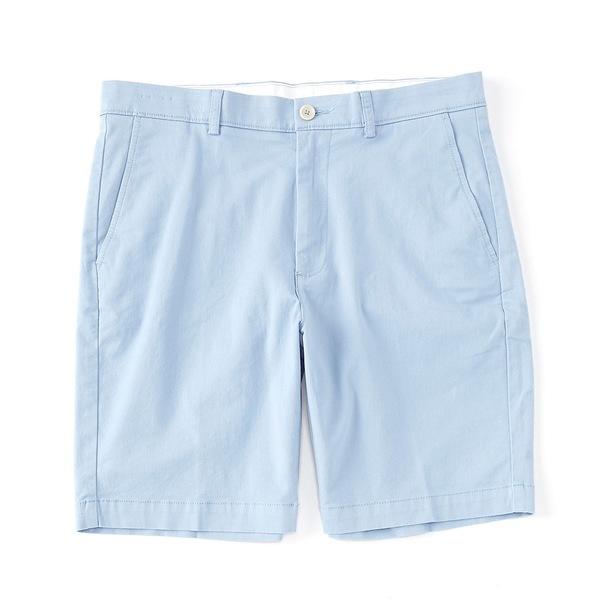 ランドツリーアンドヨーク メンズ ハーフ&ショーツ ボトムス Big & Tall 9#double; and 11#double; Inseam Flat Front Washed Chino Shorts Light Blue